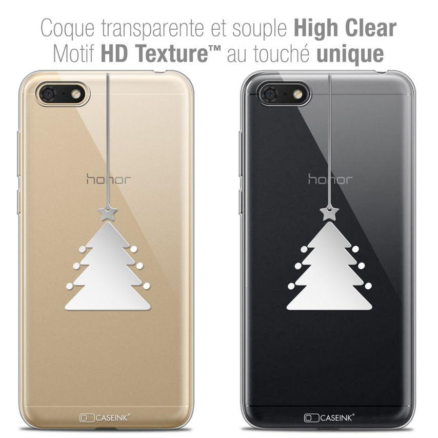 "Coque Crystal Gel Honor 7S (5.45"") Extra Fine Noël 2017 - Petit Arbre"