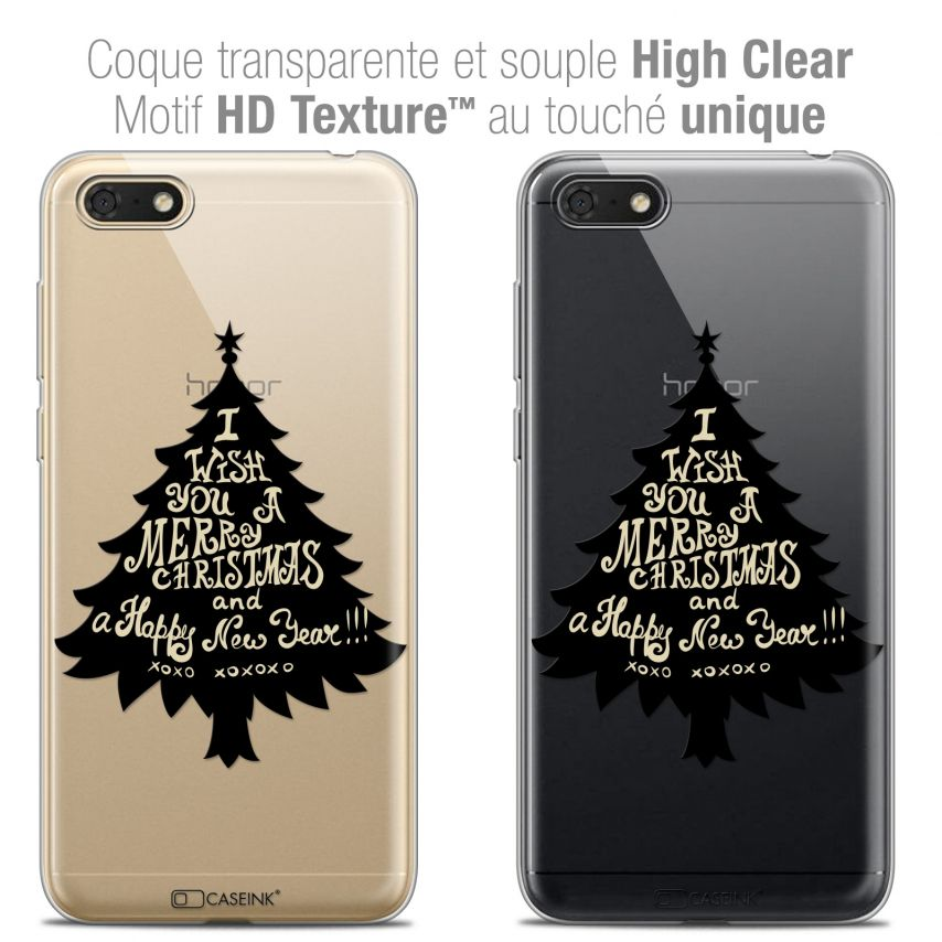 "Coque Crystal Gel Honor 7S (5.45"") Extra Fine Noël 2017 - XOXO Tree"