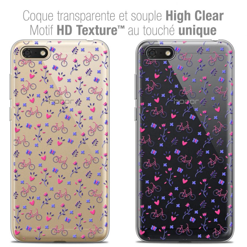 "Coque Crystal Gel Honor 7S (5.45"") Extra Fine Love - Bicycle"