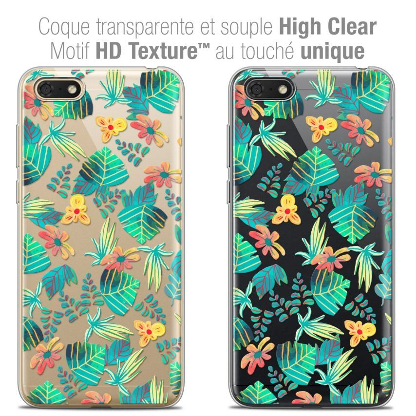 """Coque Crystal Gel Honor 7S (5.45"""") Extra Fine Spring - Tropical"""
