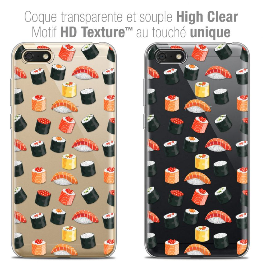"Coque Crystal Gel Honor 7S (5.45"") Extra Fine Foodie - Sushi"