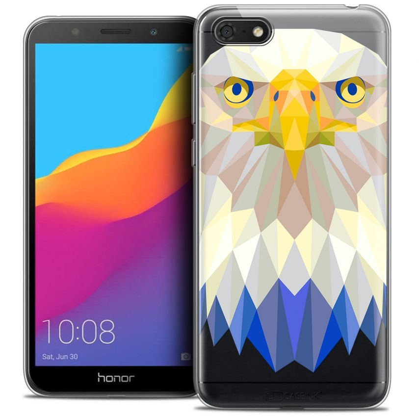 "Coque Crystal Gel Honor 7S (5.45"") Extra Fine Polygon Animals - Aigle"
