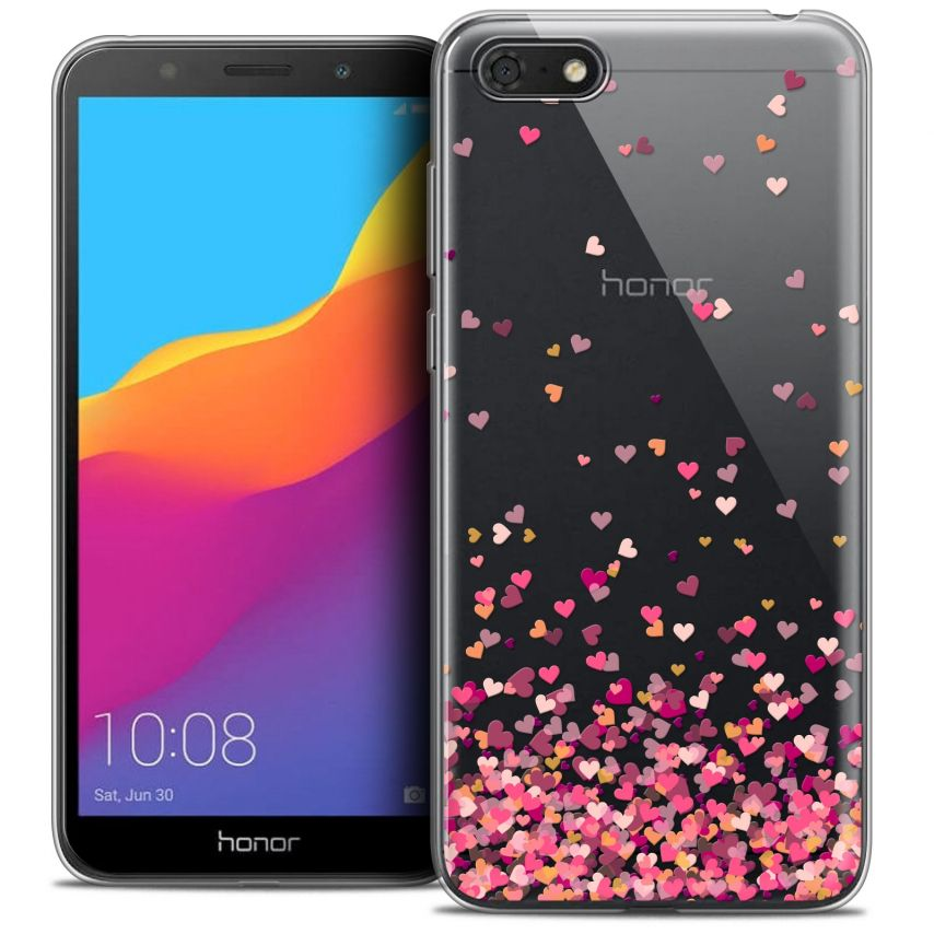 """Coque Crystal Gel Honor 7S (5.45"""") Extra Fine Sweetie - Heart Flakes"""