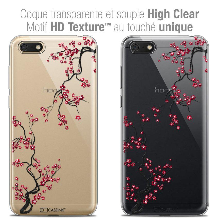 "Coque Crystal Gel Honor 7S (5.45"") Extra Fine Summer - Sakura"