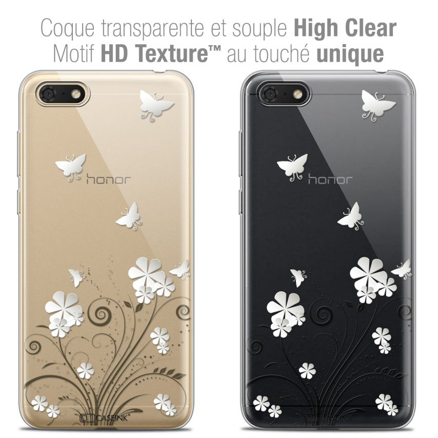 "Coque Crystal Gel Honor 7S (5.45"") Extra Fine Summer - Papillons"