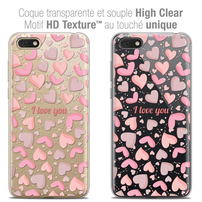 "Coque Crystal Gel Honor 7S (5.45"") Extra Fine Love - I Love You"