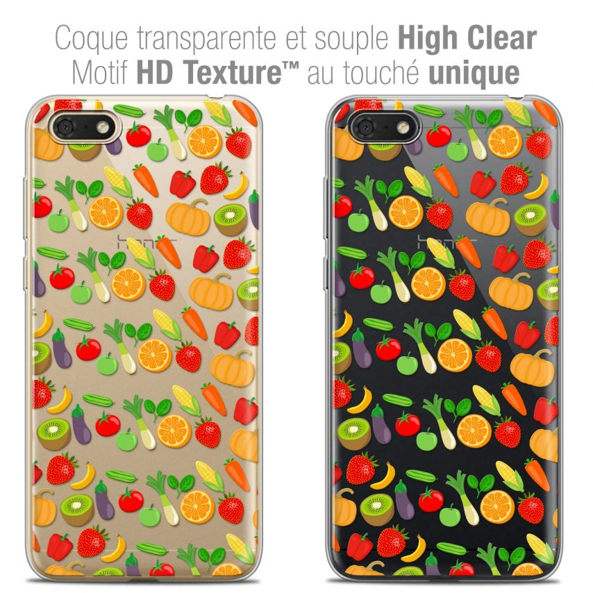 "Coque Crystal Gel Honor 7S (5.45"") Extra Fine Foodie - Healthy"