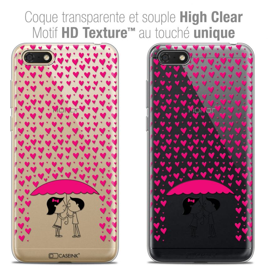 """Coque Crystal Gel Honor 7S (5.45"""") Extra Fine Love - Pluie d'Amour"""