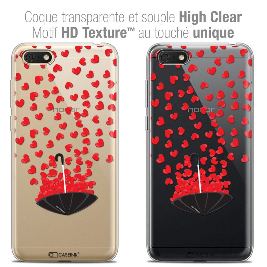 "Coque Crystal Gel Honor 7S (5.45"") Extra Fine Love - Parapluie d'Amour"
