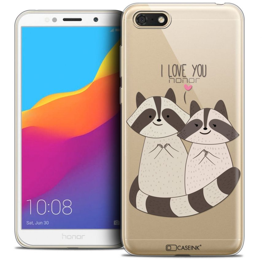 "Coque Crystal Gel Honor 7S (5.45"") Extra Fine Sweetie - Racoon Love"