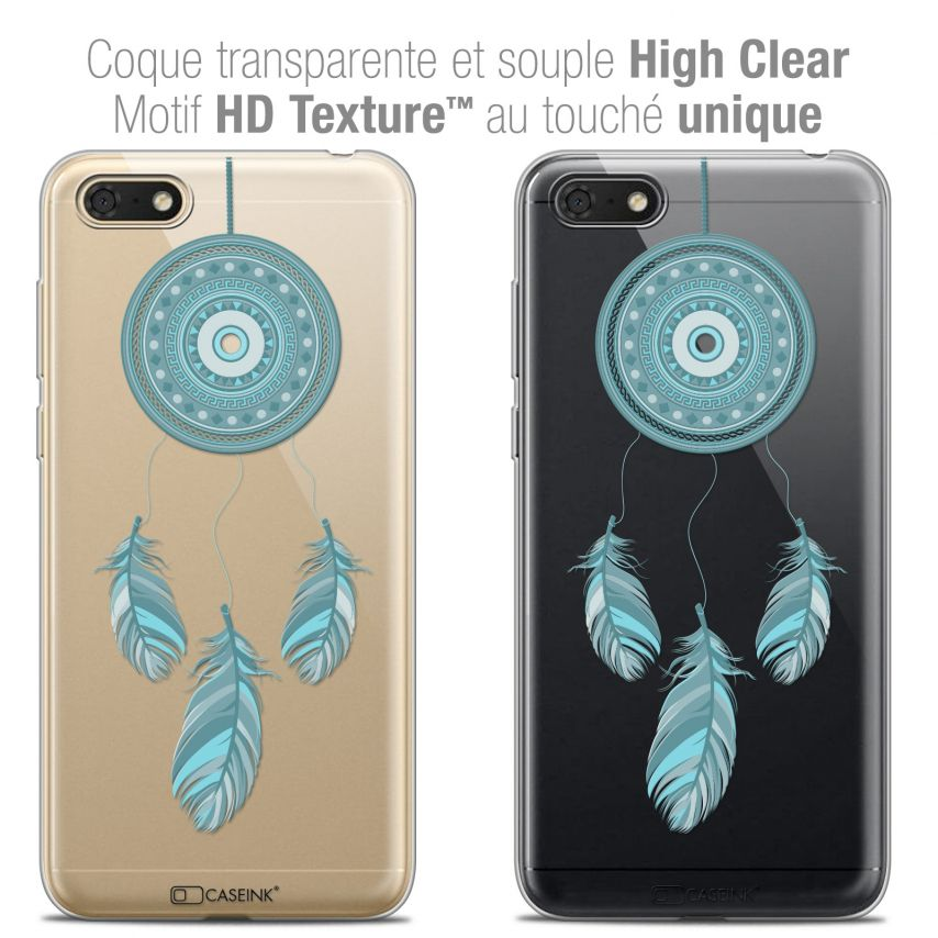 "Coque Crystal Gel Honor 7S (5.45"") Extra Fine Dreamy - Attrape Rêves Blue"