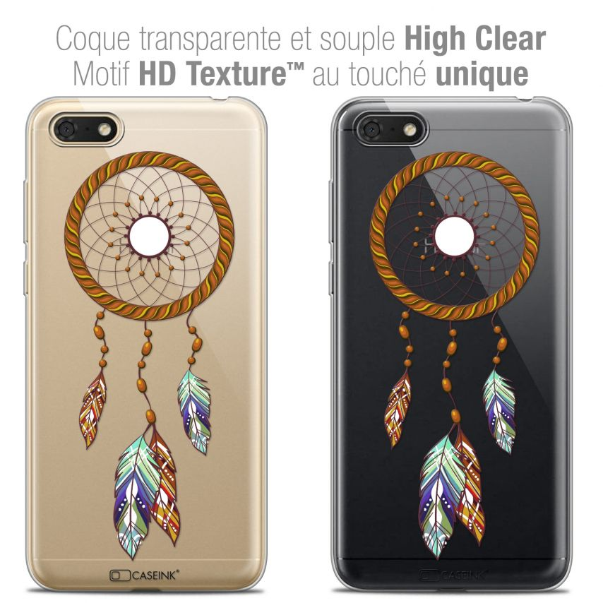 "Coque Crystal Gel Honor 7S (5.45"") Extra Fine Dreamy - Attrape Rêves Shine"