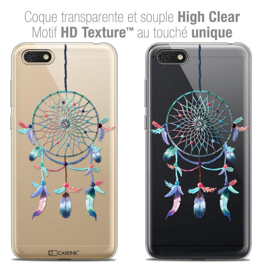 "Coque Crystal Gel Honor 7S (5.45"") Extra Fine Dreamy - Attrape Rêves Rainbow"