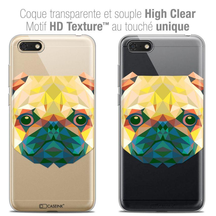"""Coque Crystal Gel Honor 7S (5.45"""") Extra Fine Polygon Animals - Chien"""