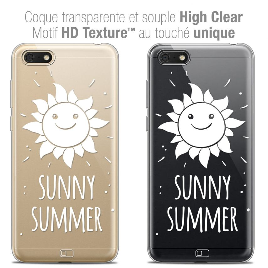 "Coque Crystal Gel Honor 7S (5.45"") Extra Fine Summer - Sunny Summer"