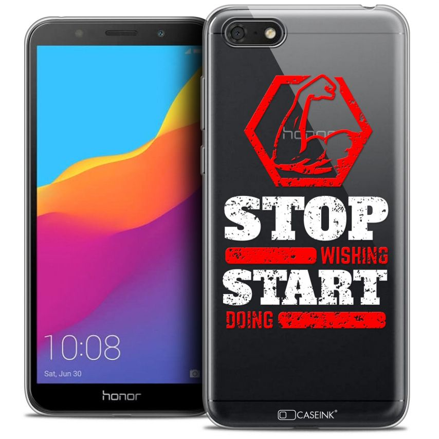 "Coque Crystal Gel Honor 7S (5.45"") Extra Fine Quote - Start Doing"