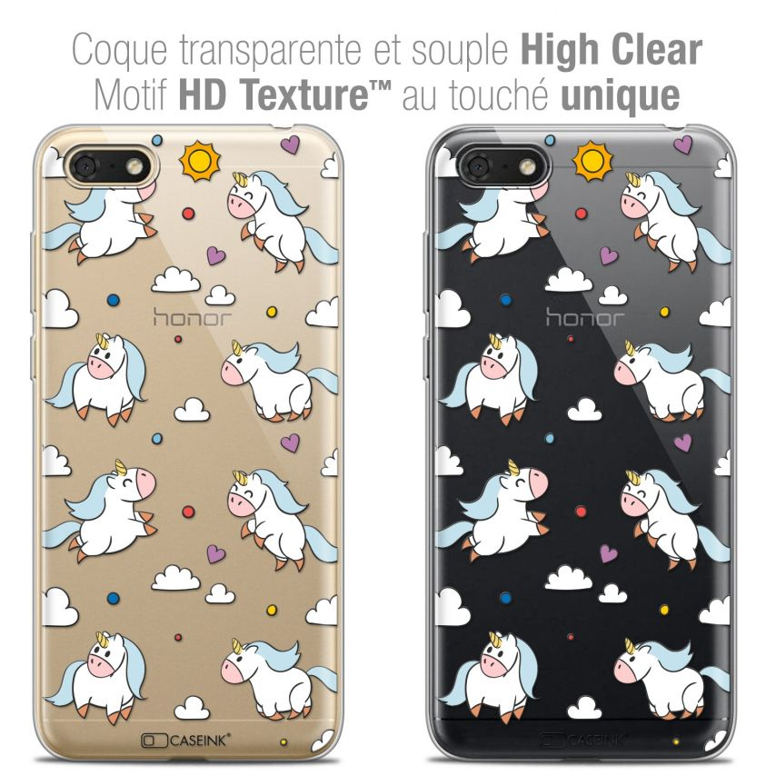 """Coque Crystal Gel Honor 7S (5.45"""") Extra Fine Fantasia - Licorne In the Sky"""