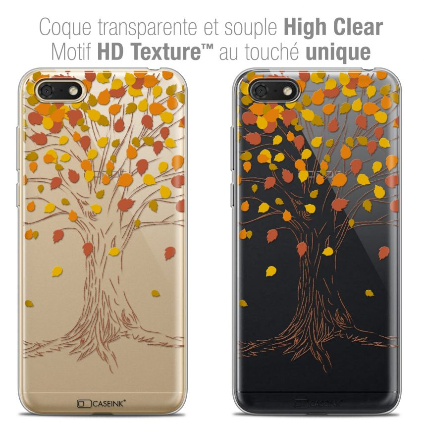 """Coque Crystal Gel Honor 7S (5.45"""") Extra Fine Autumn 16 - Tree"""