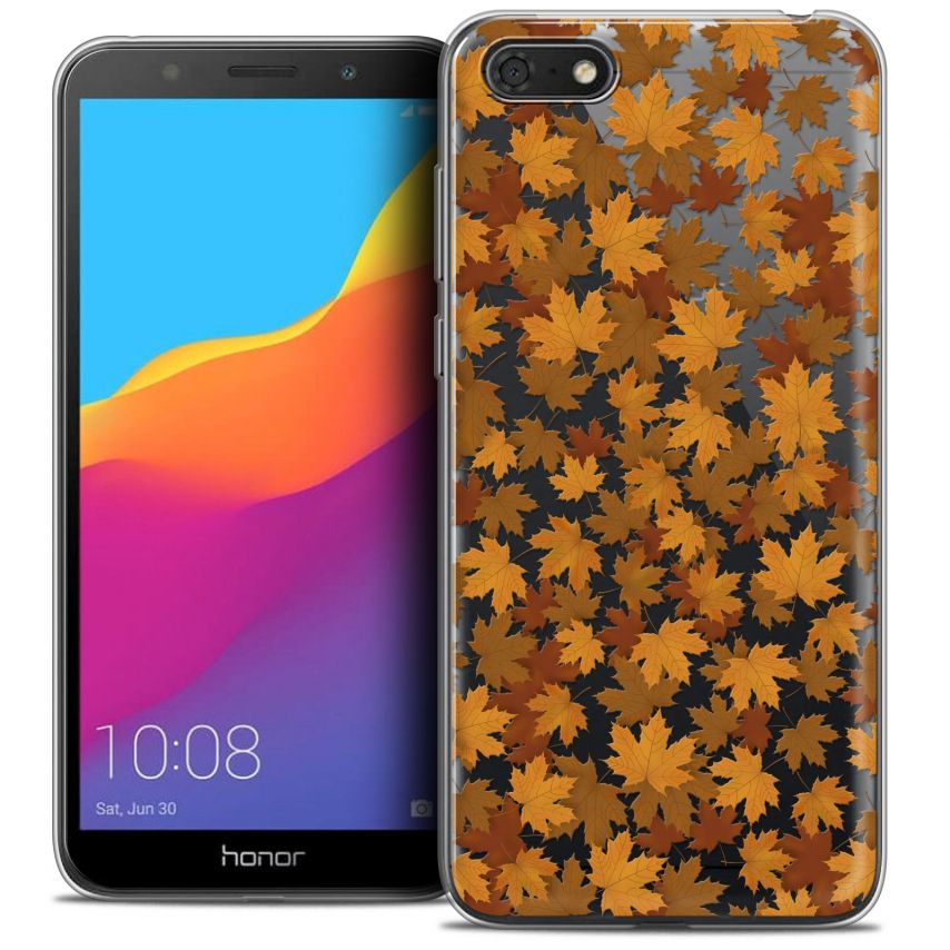 "Coque Crystal Gel Honor 7S (5.45"") Extra Fine Autumn 16 - Feuilles"