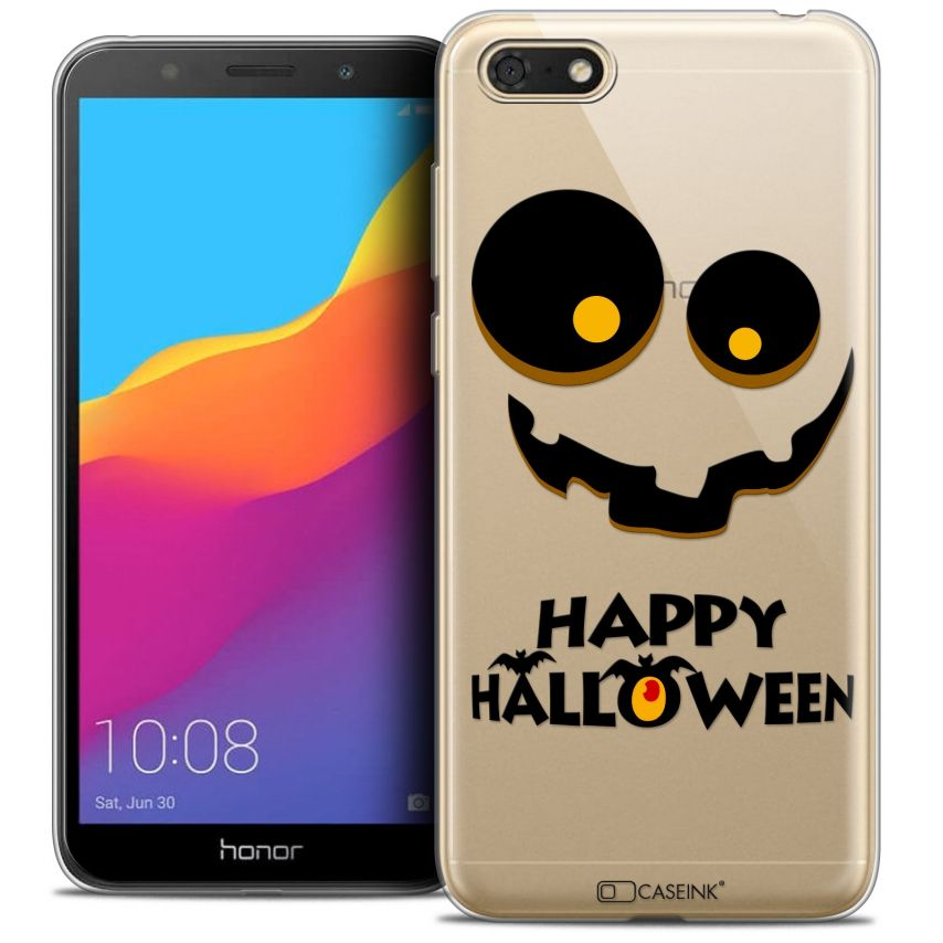 "Coque Crystal Gel Honor 7S (5.45"") Extra Fine Halloween - Happy"