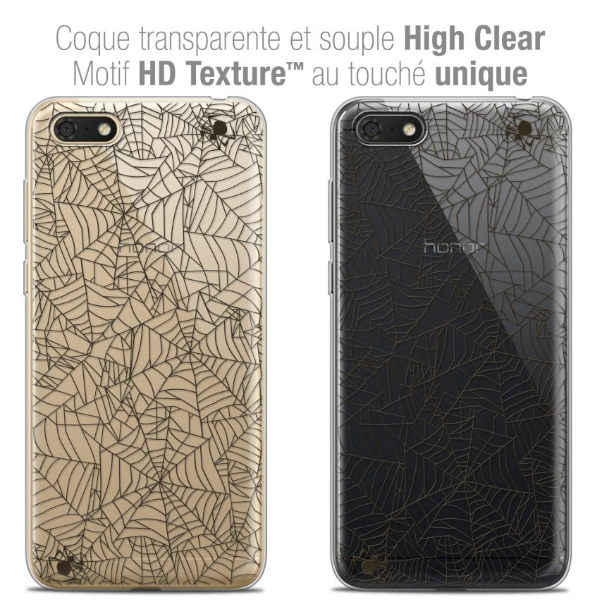 "Coque Crystal Gel Honor 7S (5.45"") Extra Fine Halloween - Spooky Spider"