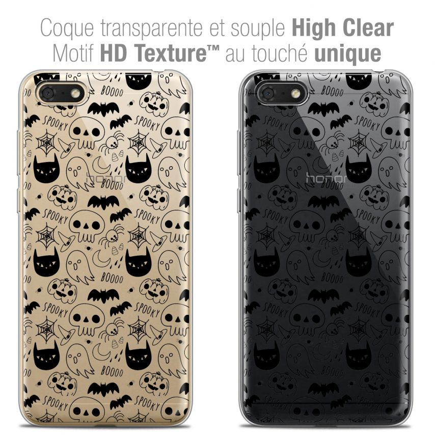 "Coque Crystal Gel Honor 7S (5.45"") Extra Fine Halloween - Spooky"