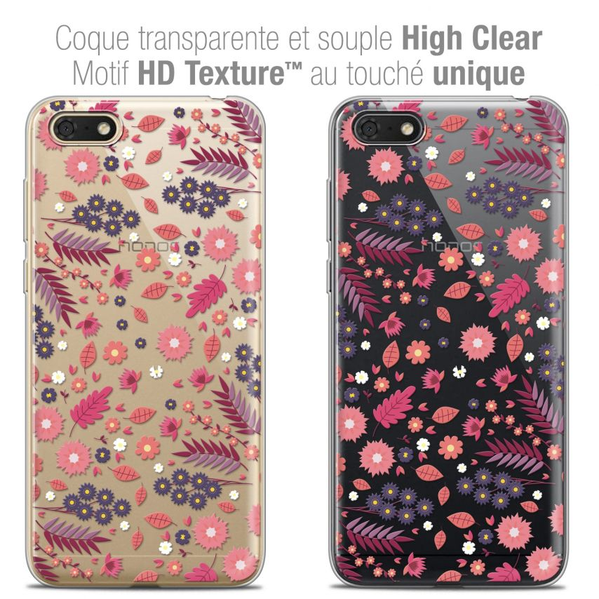 "Coque Crystal Gel Honor 7S (5.45"") Extra Fine Spring - Printemps"