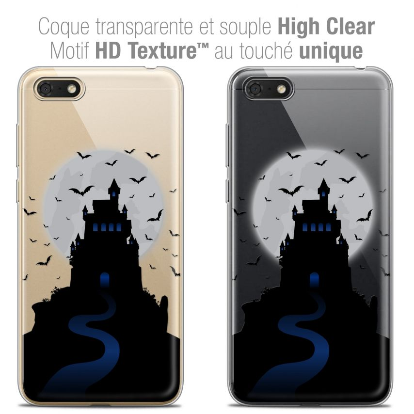 "Coque Crystal Gel Honor 7S (5.45"") Extra Fine Halloween - Castle Nightmare"