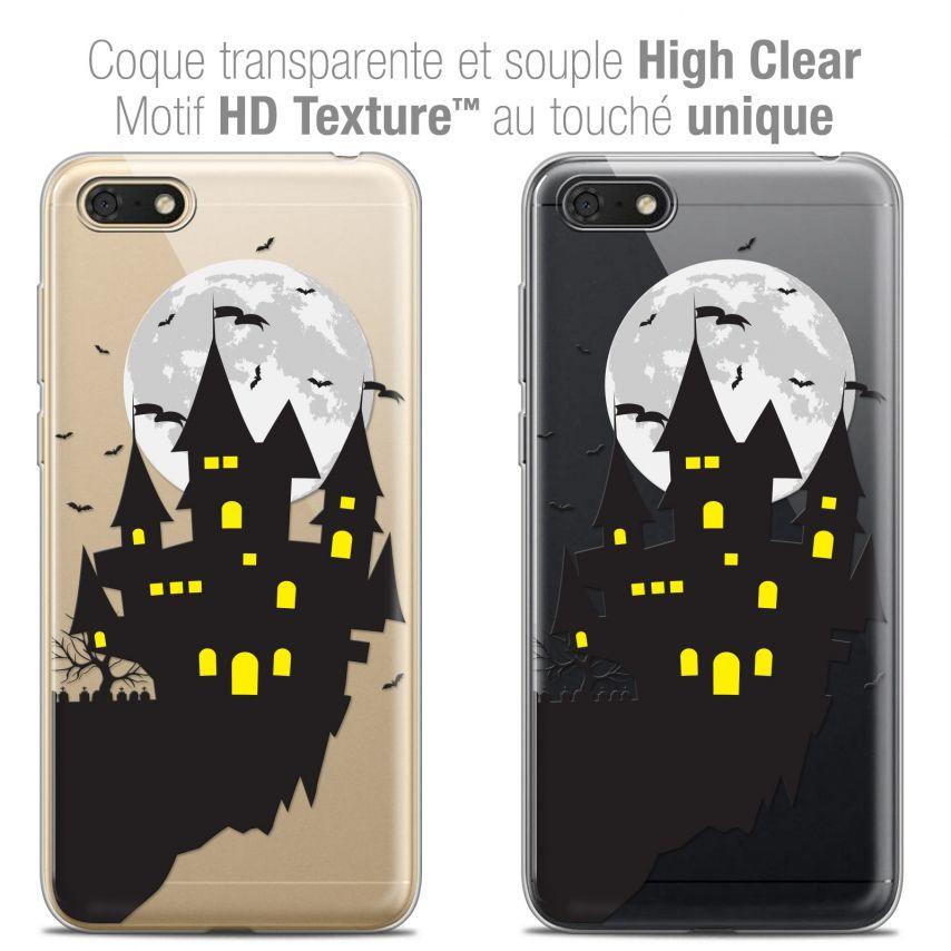 "Coque Crystal Gel Honor 7S (5.45"") Extra Fine Halloween - Castle Dream"