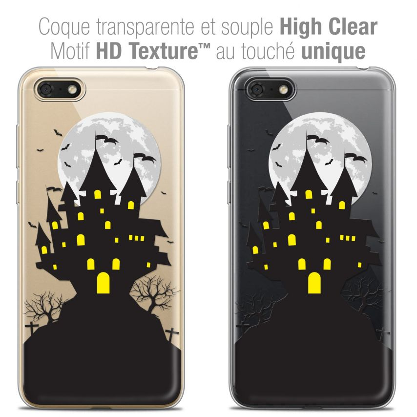 "Coque Crystal Gel Honor 7S (5.45"") Extra Fine Halloween - Castle Scream"