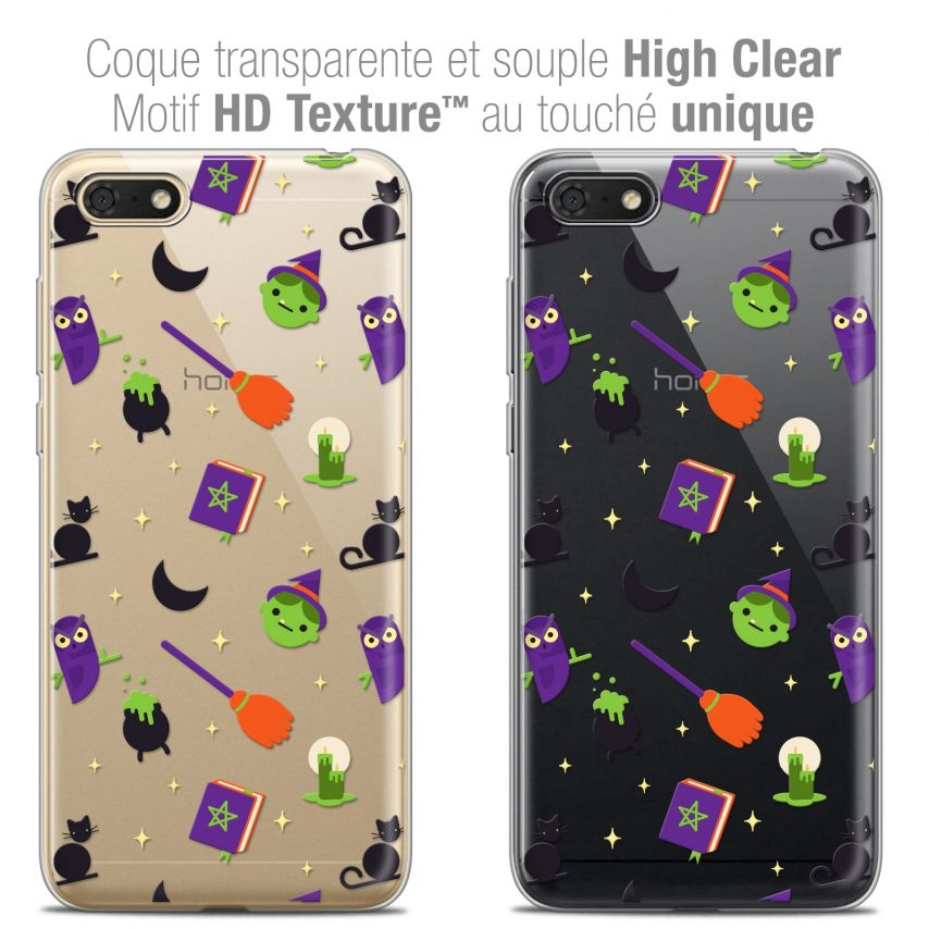 "Coque Crystal Gel Honor 7S (5.45"") Extra Fine Halloween - Witch Potter"
