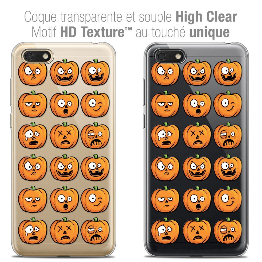 "Coque Crystal Gel Honor 7S (5.45"") Extra Fine Halloween - Cartoon Citrouille"