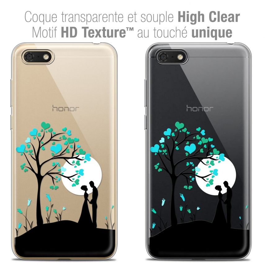 "Coque Crystal Gel Honor 7S (5.45"") Extra Fine Love - Sous l'arbre"