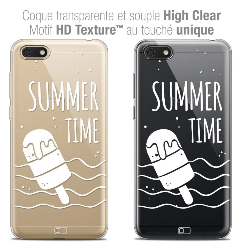 "Coque Crystal Gel Honor 7S (5.45"") Extra Fine Summer - Summer Time"