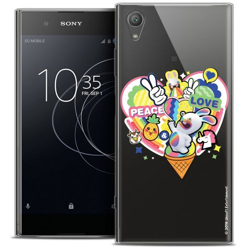 "Coque Gel Sony Xperia XA1 PLUS (5.5"") Extra Fine Lapins Crétins™ - Peace And Love"