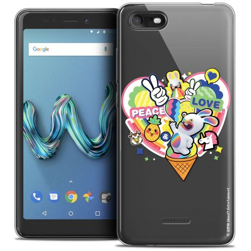 "Coque Gel Wiko Tommy 3 (5.45"") Extra Fine Lapins Crétins™ - Peace And Love"