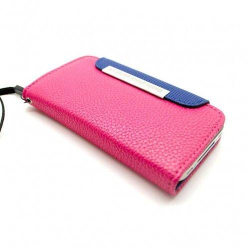 Vue Principale de Etui iPhone 4S / 4 Portefeuille Cuir GOLF Rose