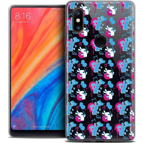 "Coque Gel Xiaomi Mi Mix 2S (5.99"") Extra Fine Lapins Crétins™ - Rugby Pattern"