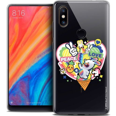 "Coque Gel Xiaomi Mi Mix 2S (5.99"") Extra Fine Lapins Crétins™ - Peace And Love"