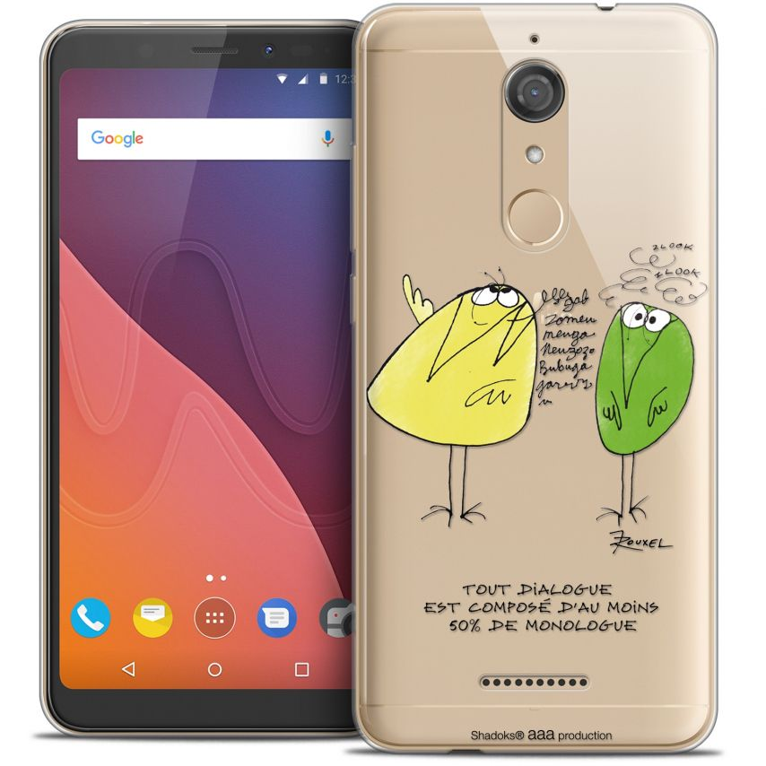 """Coque Gel Wiko View (5.7"""") Extra Fine Les Shadoks® - Le Dialogue"""