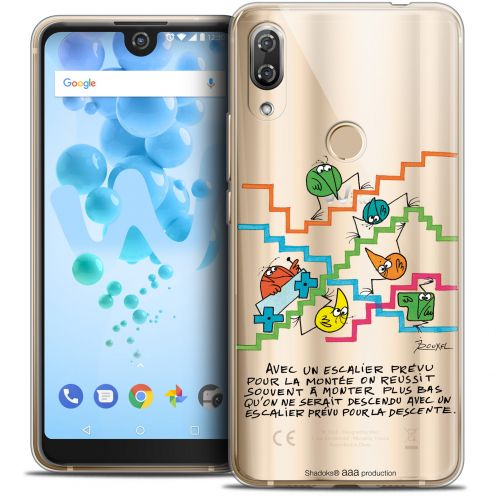 "Coque Gel Wiko View 2 PRO (6.0"") Extra Fine Les Shadoks® - L'escalier"