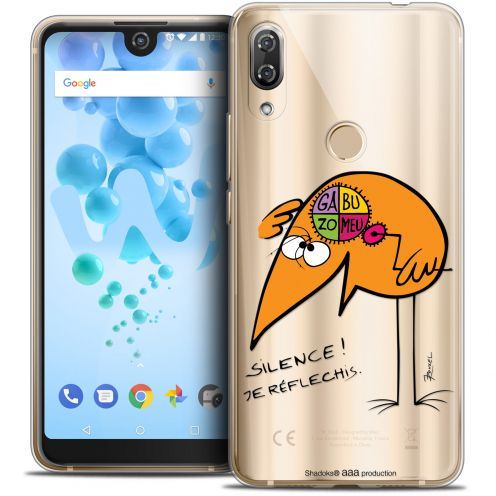 """Coque Gel Wiko View 2 PRO (6.0"""") Extra Fine Les Shadoks® - Silence !"""