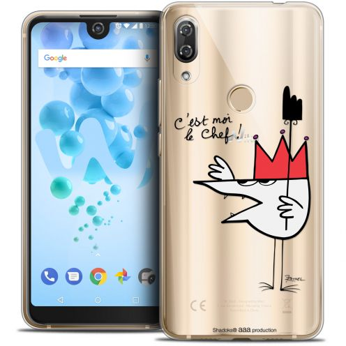 "Coque Gel Wiko View 2 PRO (6.0"") Extra Fine Les Shadoks® - Le Chef"