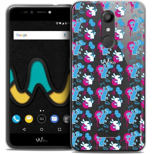 """Coque Gel Wiko U Pulse (5.5"""") Extra Fine Lapins Crétins™ - Rugby Pattern"""