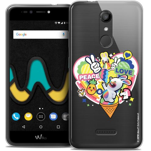 """Coque Gel Wiko U Pulse (5.5"""") Extra Fine Lapins Crétins™ - Peace And Love"""