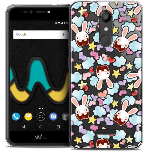 """Coque Gel Wiko U Pulse (5.5"""") Extra Fine Lapins Crétins™ - Love Pattern"""