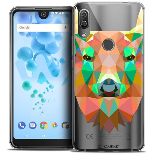 "Coque Crystal Gel Wiko View 2 PRO (6.0"") Extra Fine Polygon Animals - Cerf"