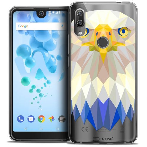 """Coque Crystal Gel Wiko View 2 PRO (6.0"""") Extra Fine Polygon Animals - Aigle"""