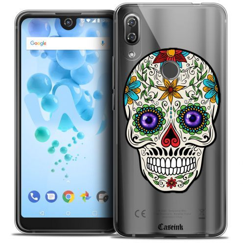 "Coque Crystal Gel Wiko View 2 PRO (6.0"") Extra Fine Skull - Maria's Flower"