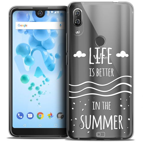 "Coque Crystal Gel Wiko View 2 PRO (6.0"") Extra Fine Summer - Life's Better"
